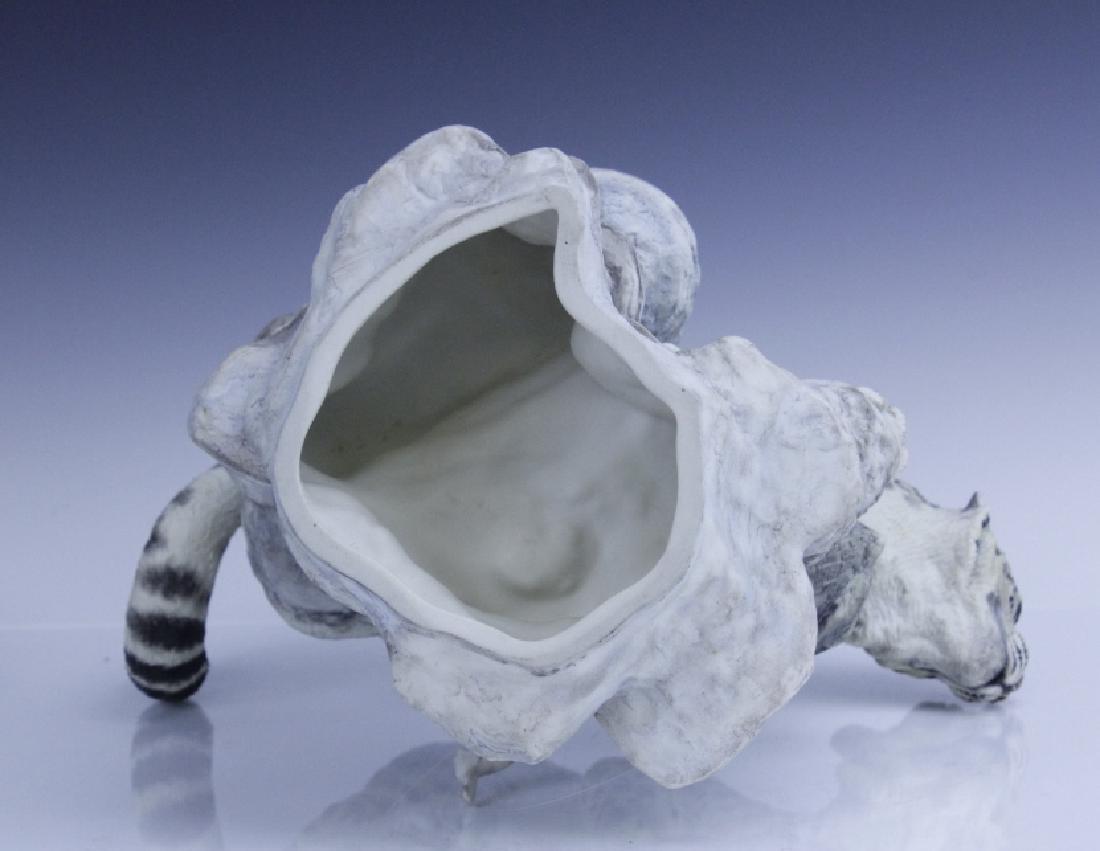 Rare Large BOEHM Snow Leopard Porcelain Figurine - 10