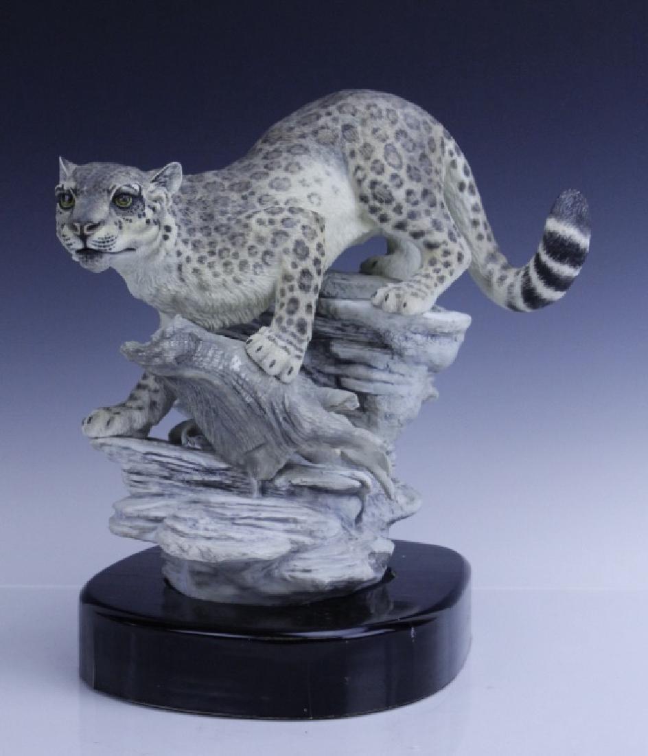 Rare Large BOEHM Snow Leopard Porcelain Figurine