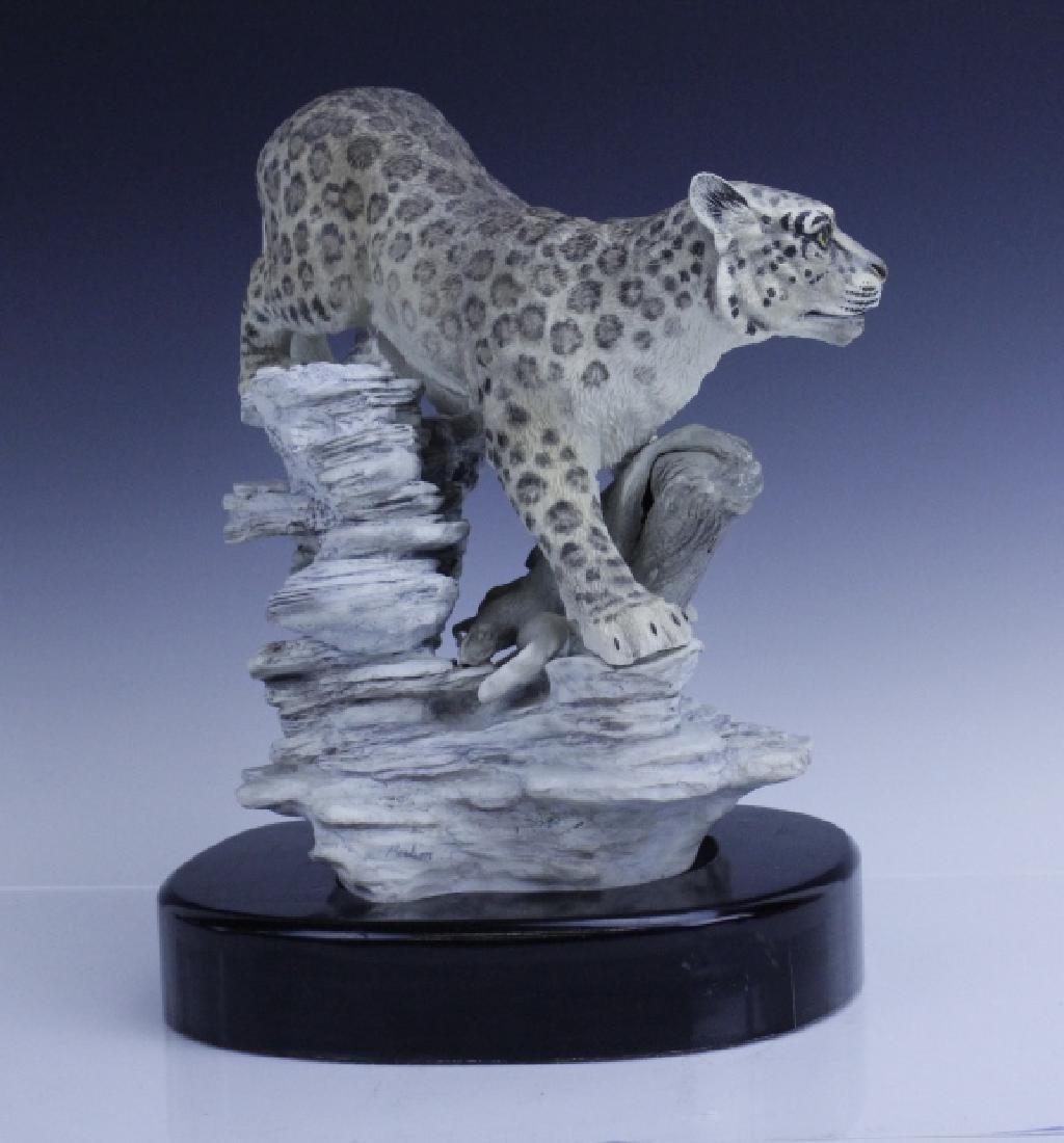 Rare Large BOEHM Snow Leopard Porcelain Figurine - 3