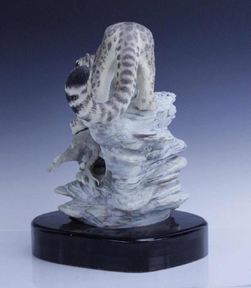 Rare Large BOEHM Snow Leopard Porcelain Figurine - 6
