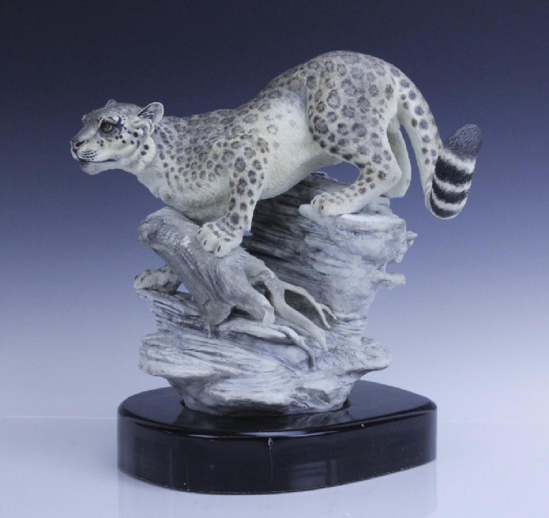 Rare Large BOEHM Snow Leopard Porcelain Figurine - 7