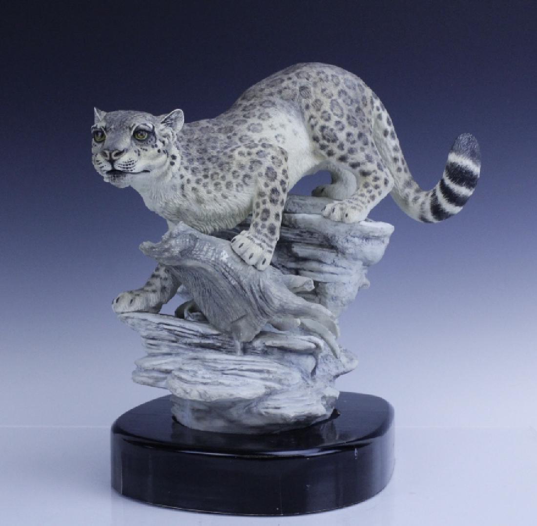 Rare Large BOEHM Snow Leopard Porcelain Figurine - 8