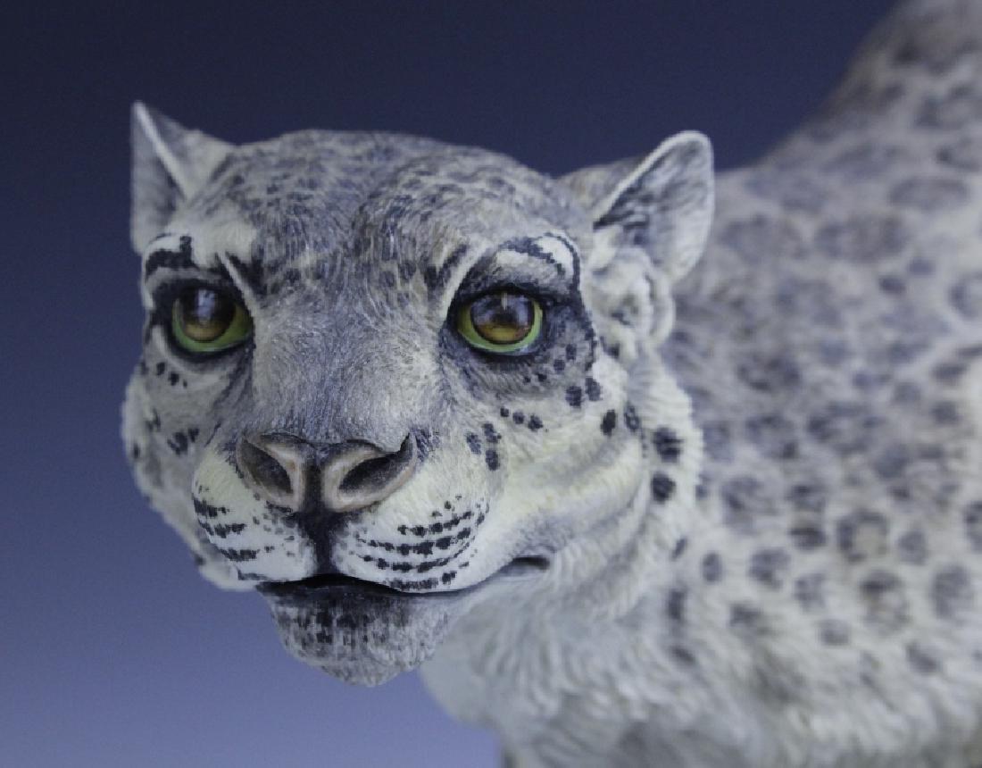 Rare Large BOEHM Snow Leopard Porcelain Figurine - 9