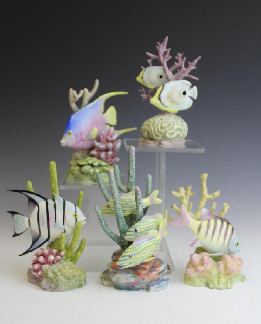 5 Royal Worcester Tropical Fish Porcelain Figurine