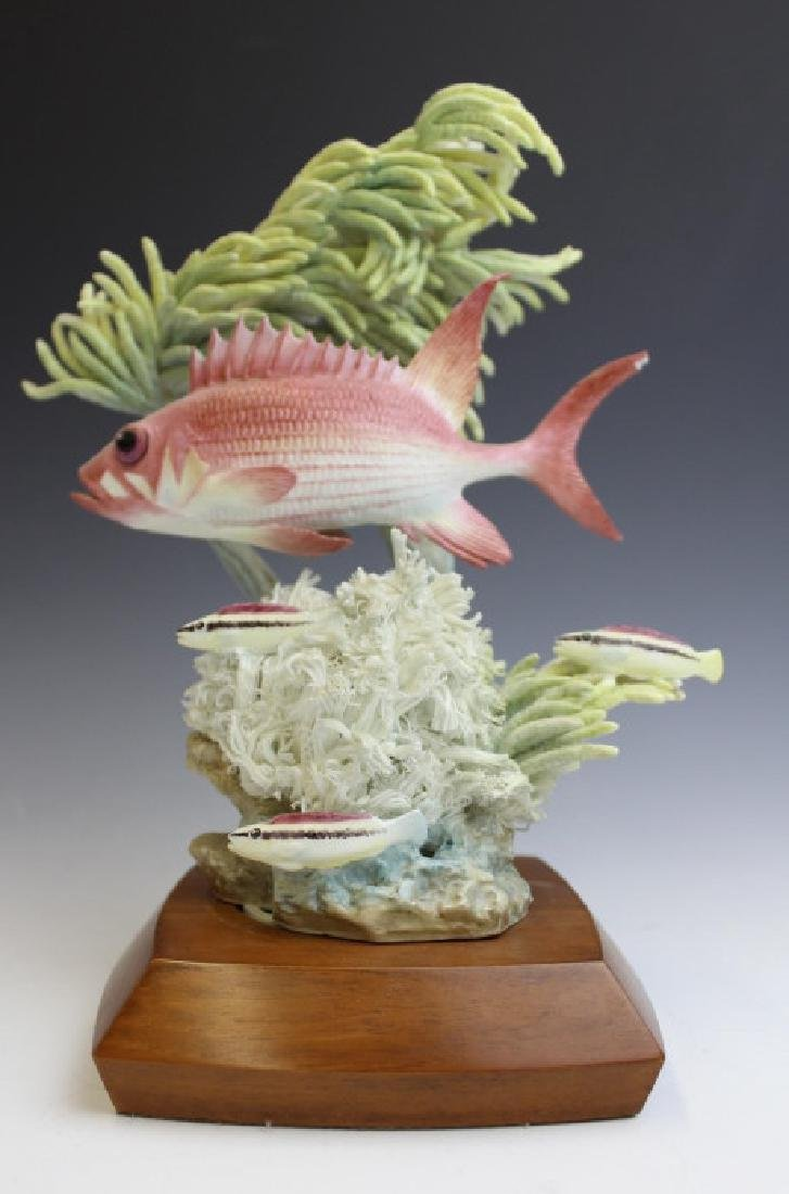 Royal Worcester Tropical Squirrel Fish Figurine