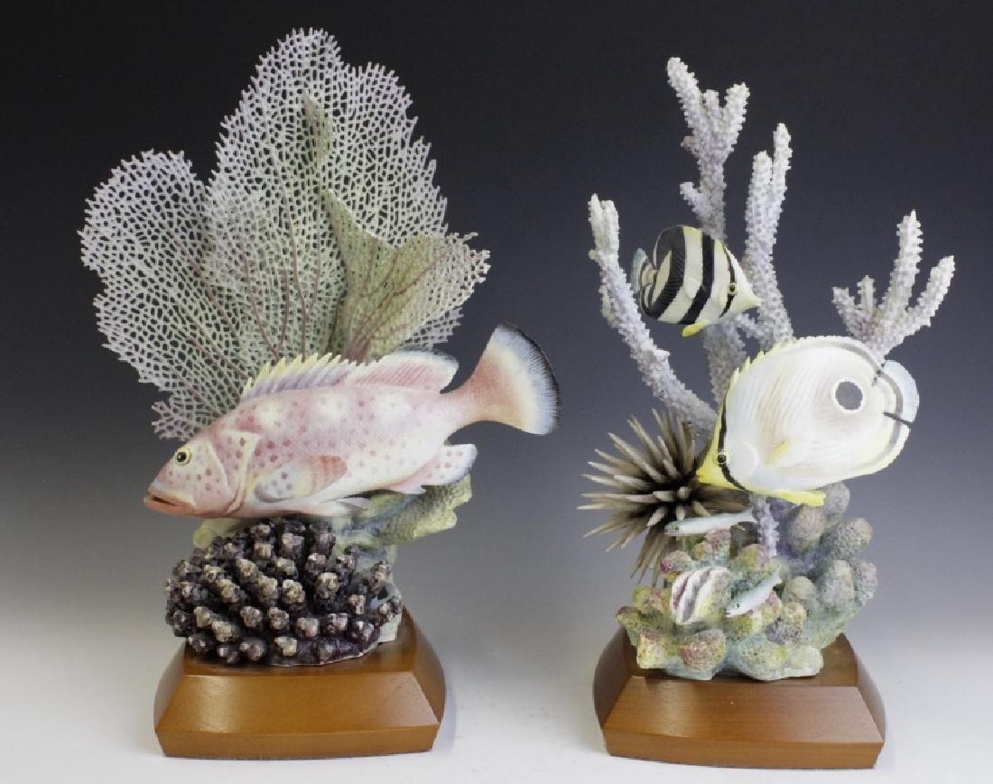 Pair Royal Worcester Tropical Fish Figures