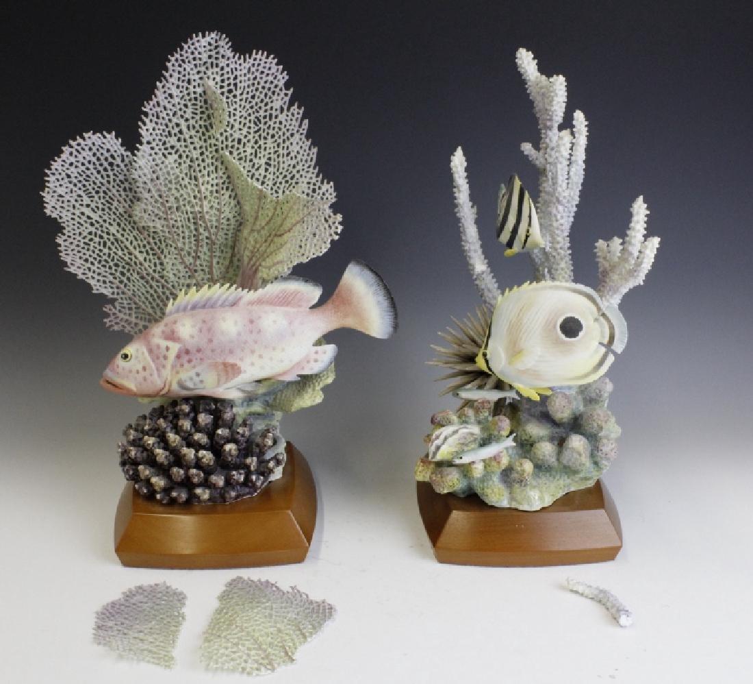 Pair Royal Worcester Tropical Fish Figures - 2