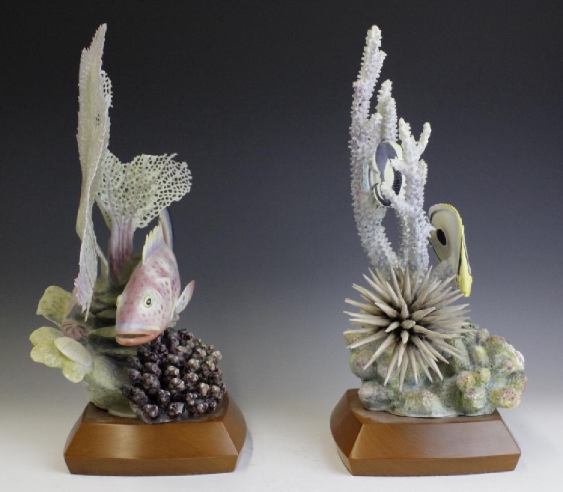 Pair Royal Worcester Tropical Fish Figures - 3