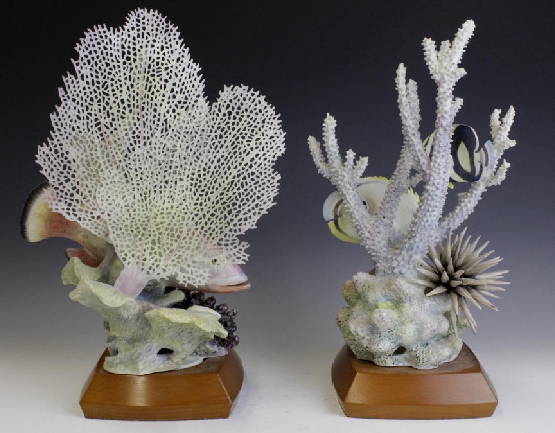 Pair Royal Worcester Tropical Fish Figures - 4