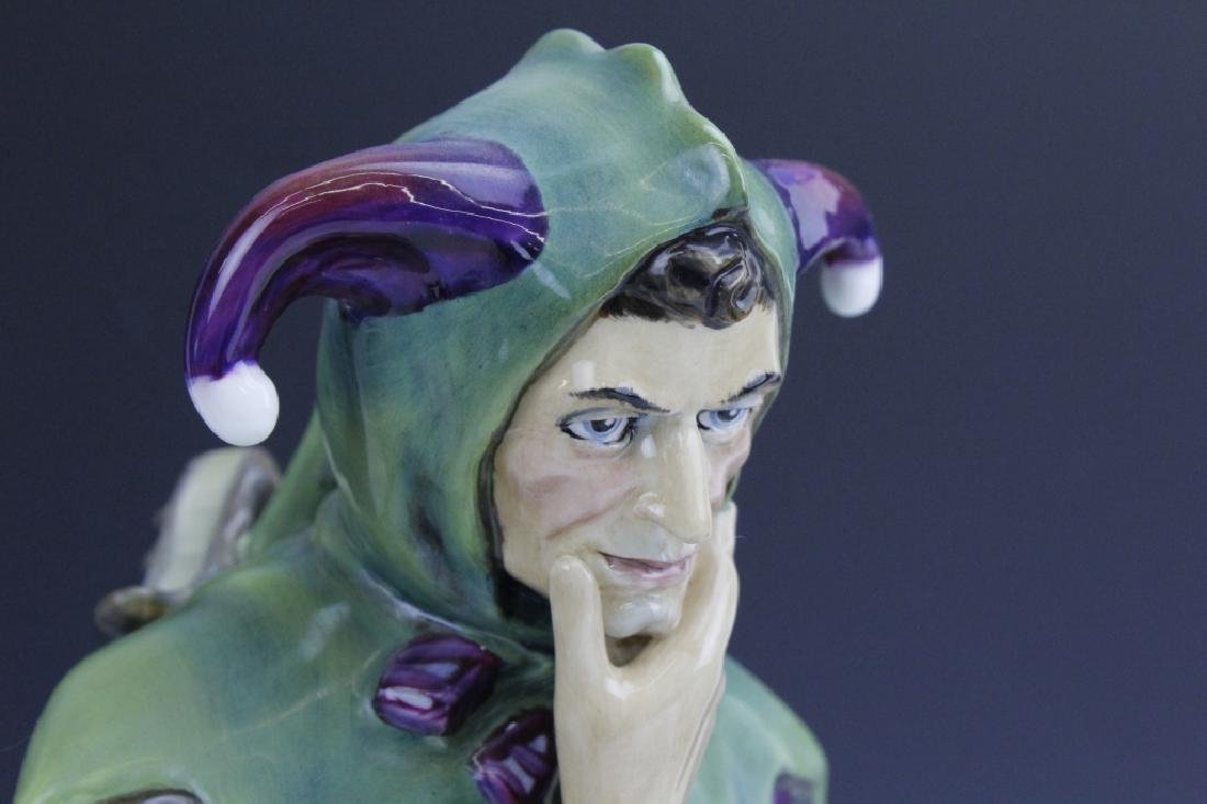 Large Royal Doulton JACK POINT Jester Statue HN2080 - 6