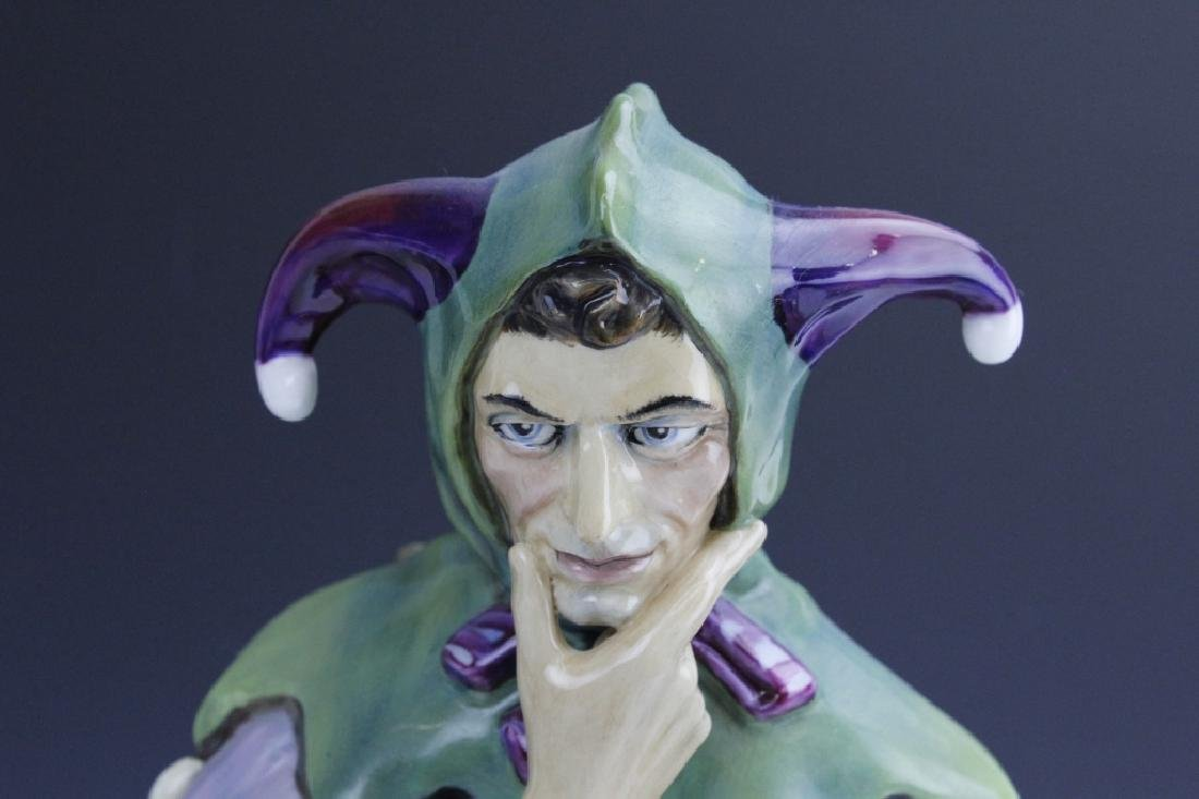 Large Royal Doulton JACK POINT Jester Statue HN2080 - 7