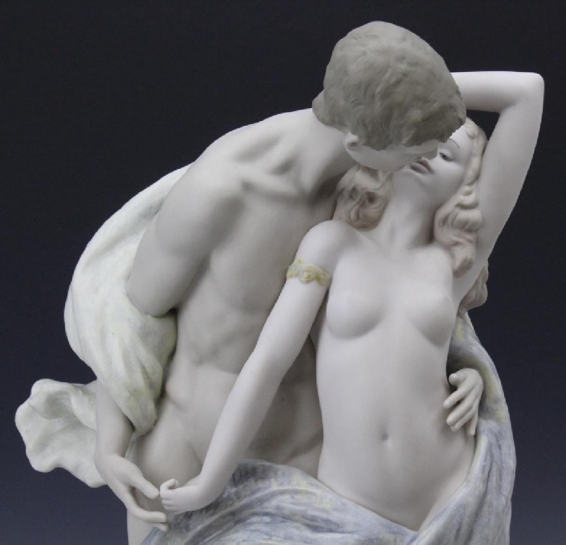 Large LLADRO Passionate Lovers Female Nude Statue - 2