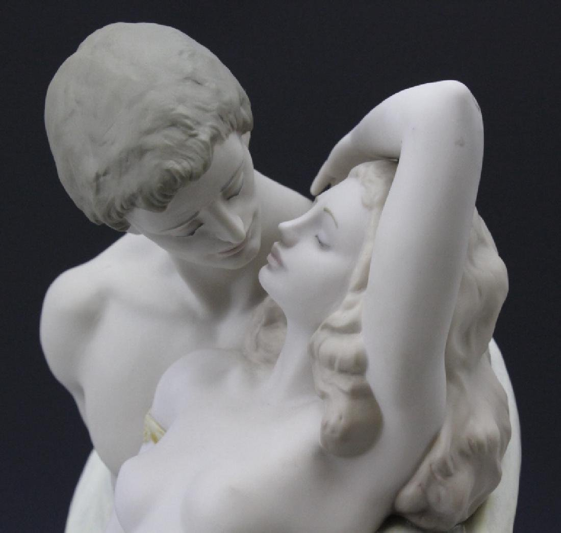 Large LLADRO Passionate Lovers Female Nude Statue - 8