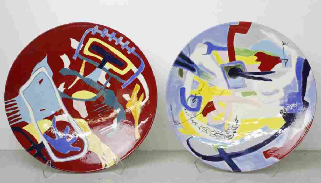 Carla Chlebarov German Modernist Pottery Chargers