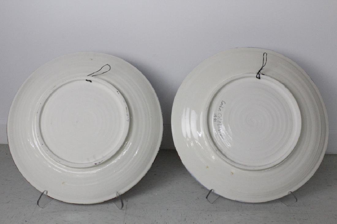 Carla Chlebarov German Modernist Pottery Chargers - 2