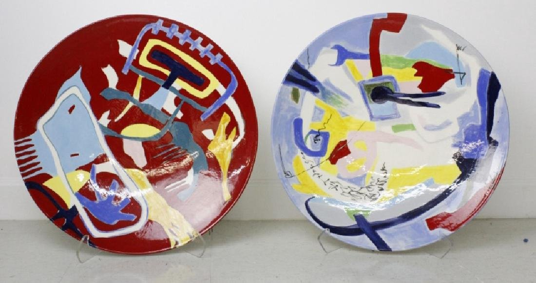 Carla Chlebarov German Modernist Pottery Chargers - 3