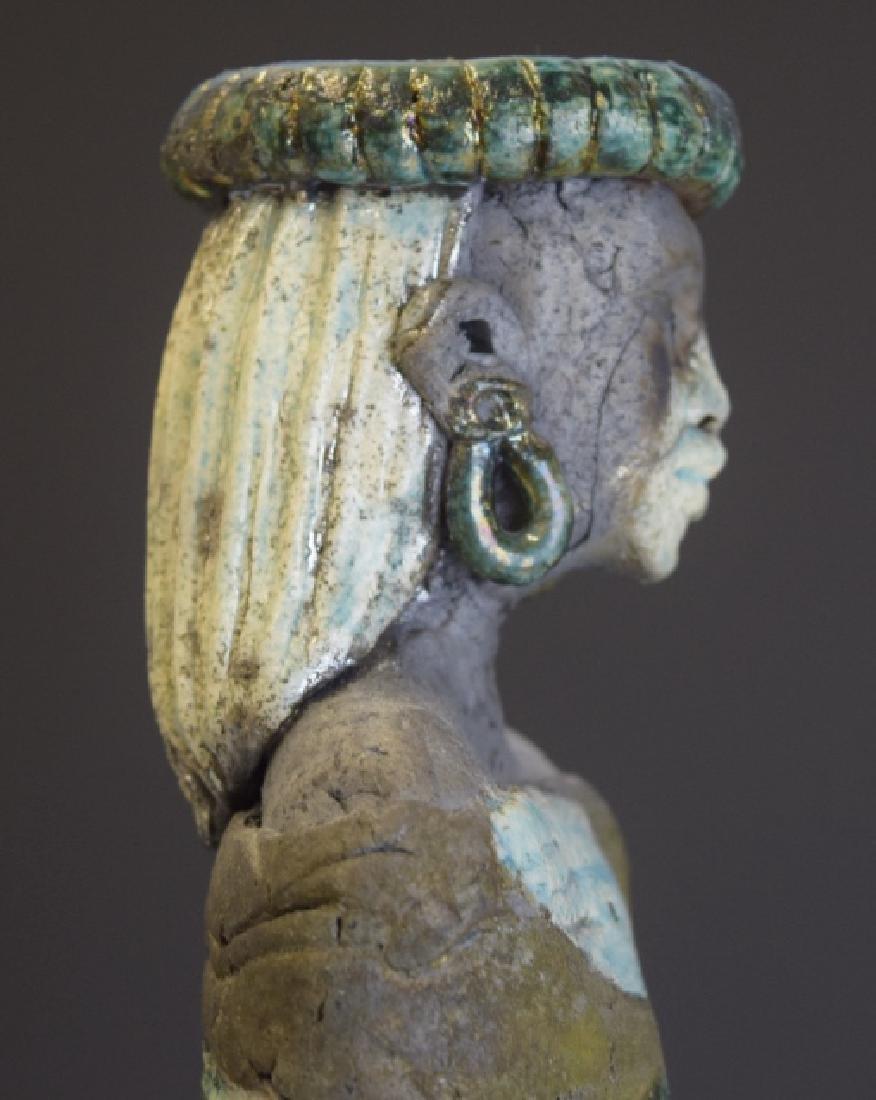 Mid Century Studio Art Pottery African Figure - 4