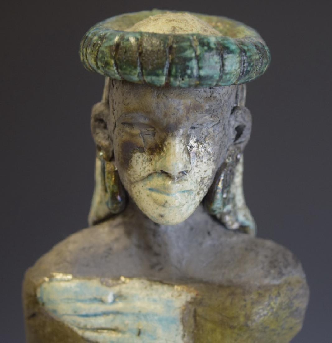 Mid Century Studio Art Pottery African Figure - 5