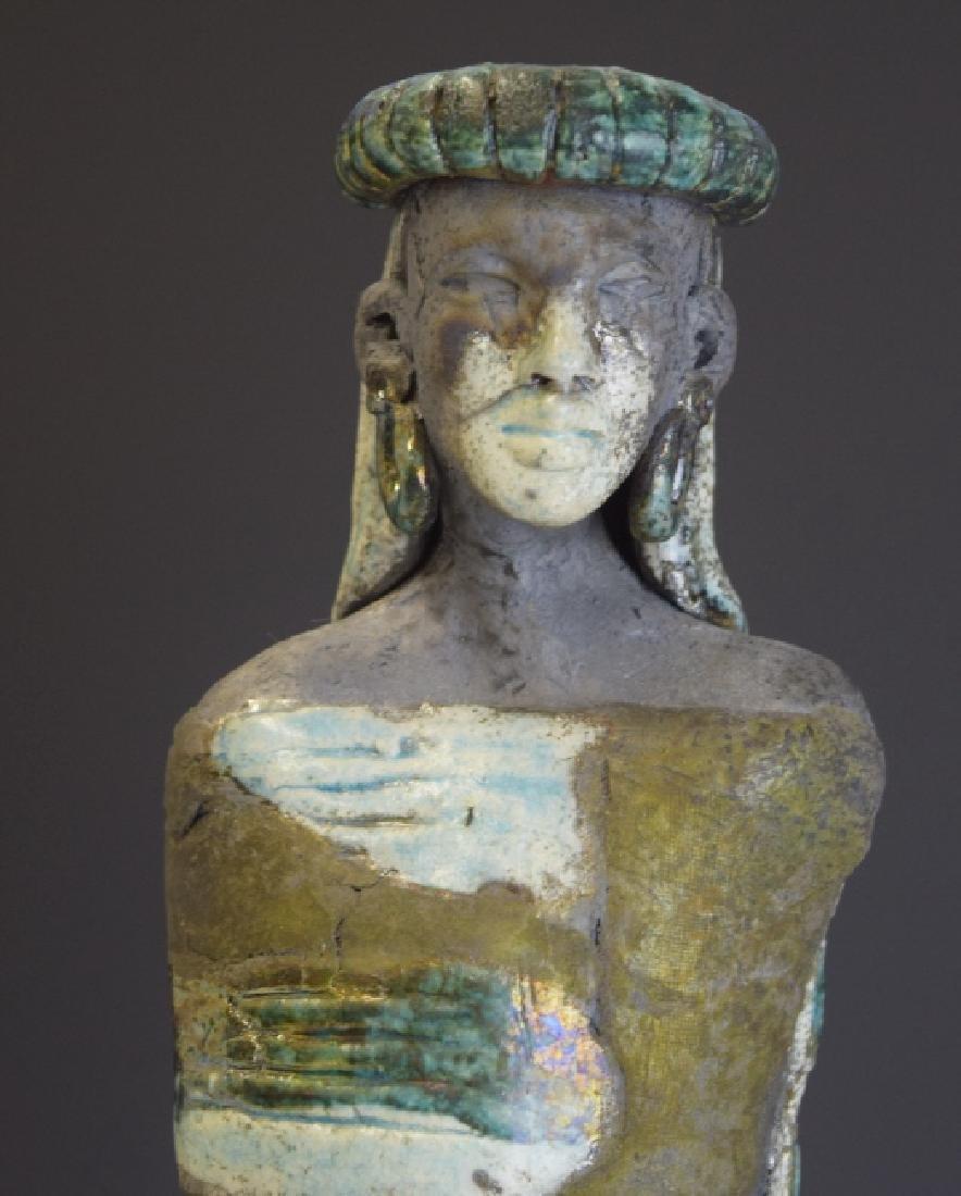 Mid Century Studio Art Pottery African Figure - 7