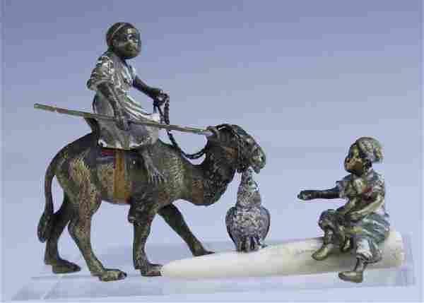 2 Vienna Bronze Cold Painted Orientalist Figurines