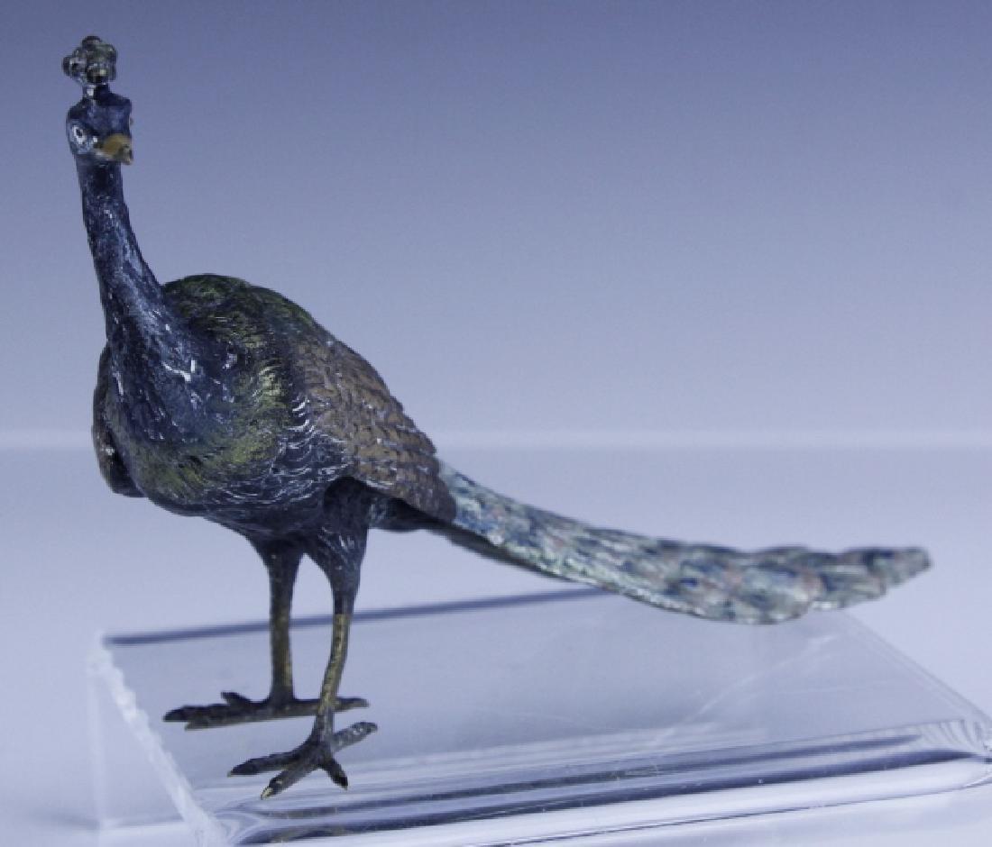 Franz Bergman Vienna Bronze Peacock Figurine - 5