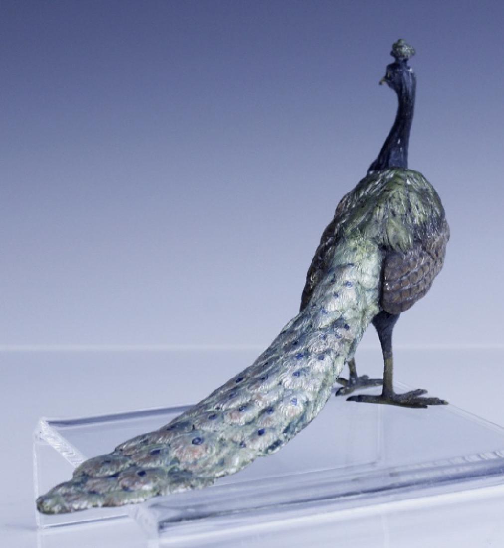 Franz Bergman Vienna Bronze Peacock Figurine - 7