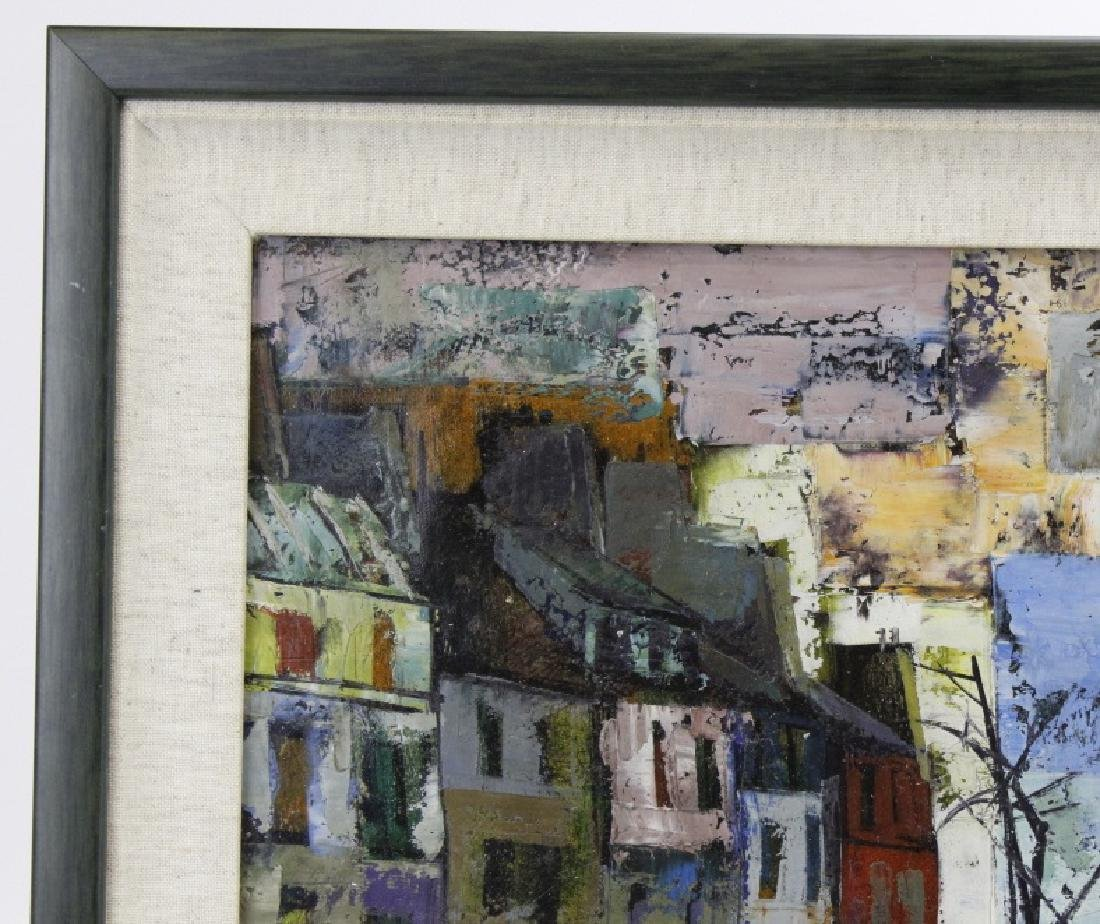 OLIVER FOSS Parisian Canal Scene Oil Painting - 6