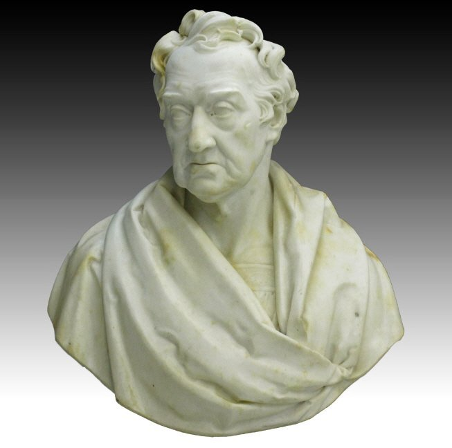 SAMUEL JOSEPH Early 19c Marble Bust Statue