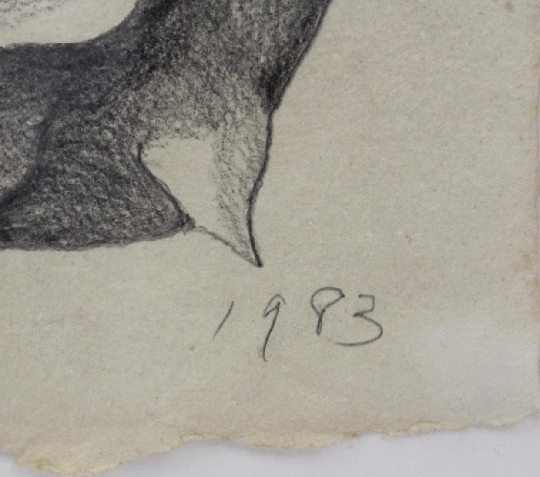 Pair LOWELL NESBITT Rose Floral Pencil Drawings - 5