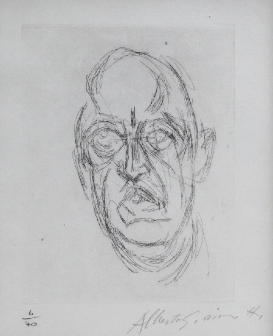 ALBERTO GIACOMETTI Iliazd L/E Portrait Etching