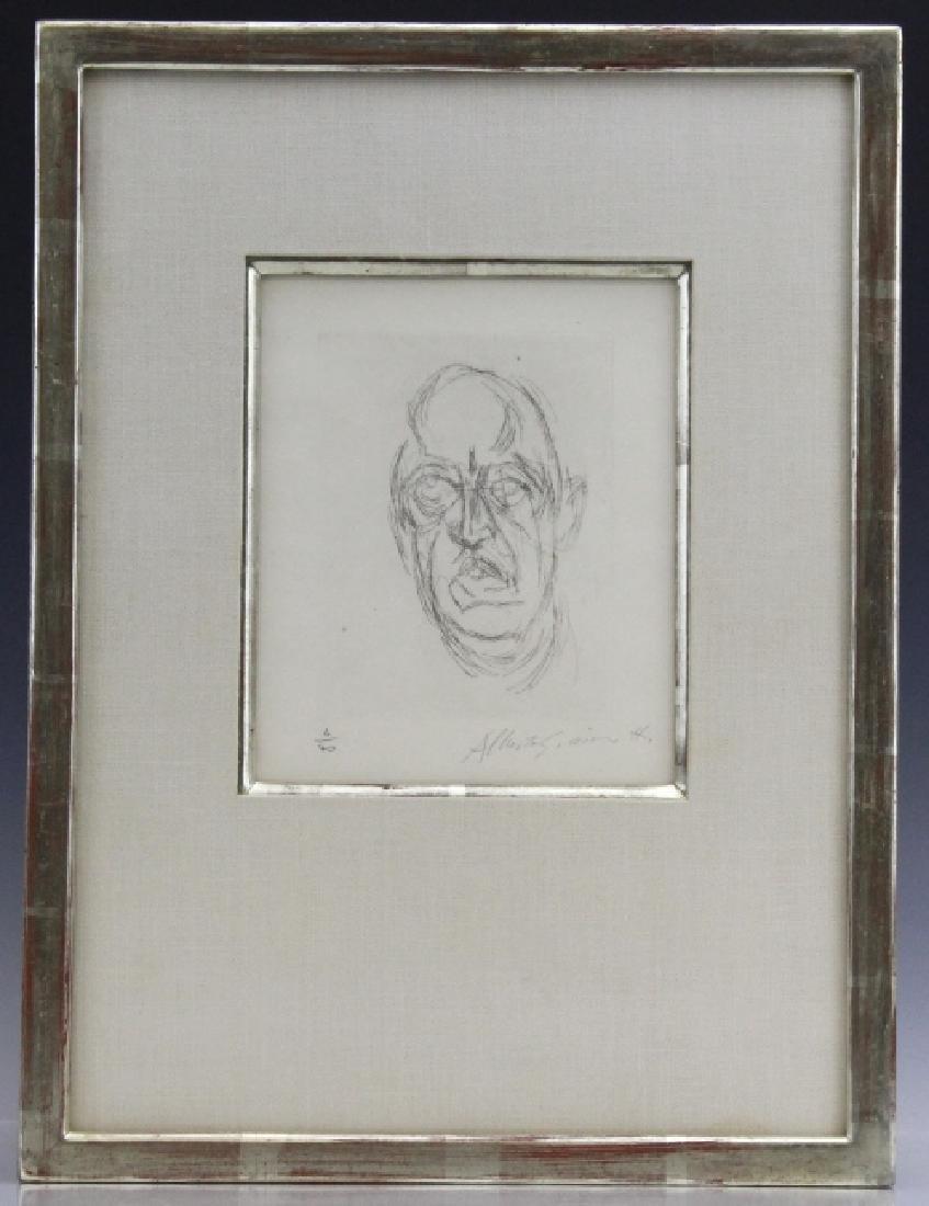 ALBERTO GIACOMETTI Iliazd L/E Portrait Etching - 2