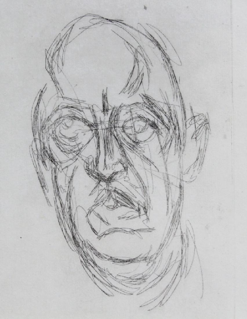 ALBERTO GIACOMETTI Iliazd L/E Portrait Etching - 4