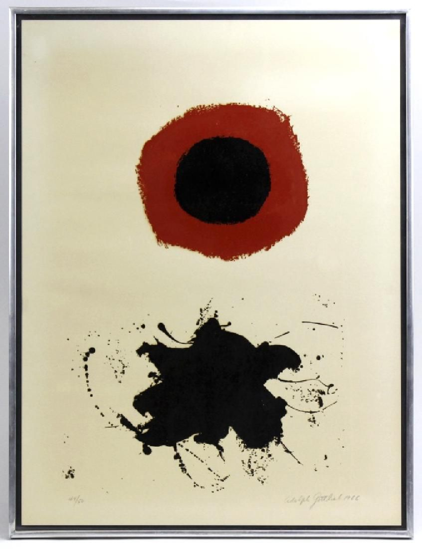 Signed Adolph Gottlieb Limited Red Halo Serigraph