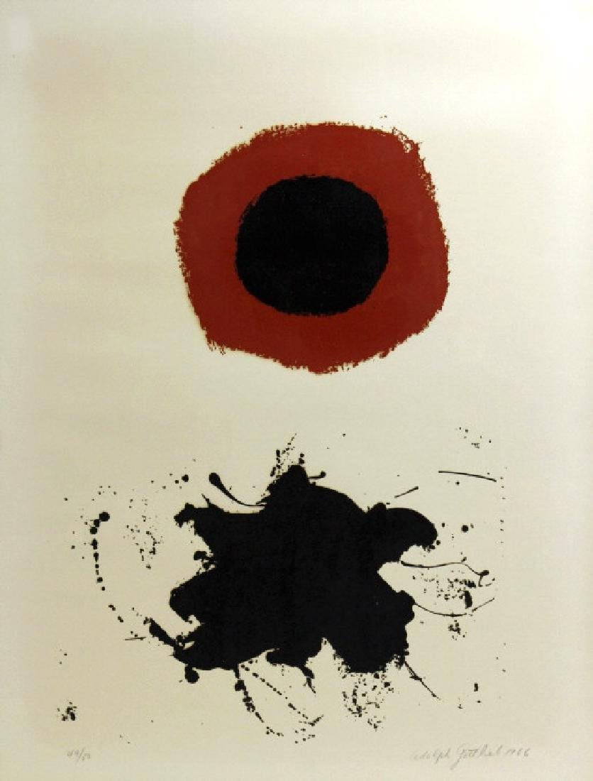 Signed Adolph Gottlieb Limited Red Halo Serigraph - 2