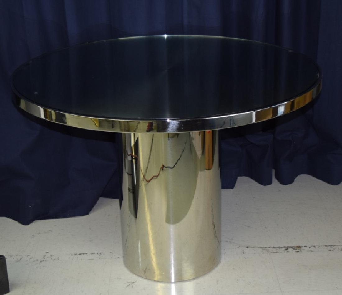 BRUETON Stainless Steel Speer Round Dining Table - 2