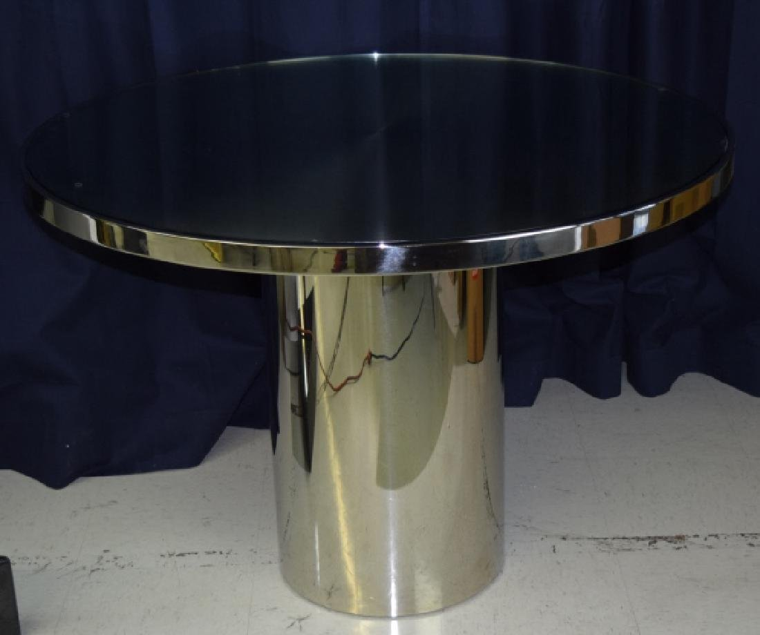 BRUETON Stainless Steel Speer Round Dining Table - 3