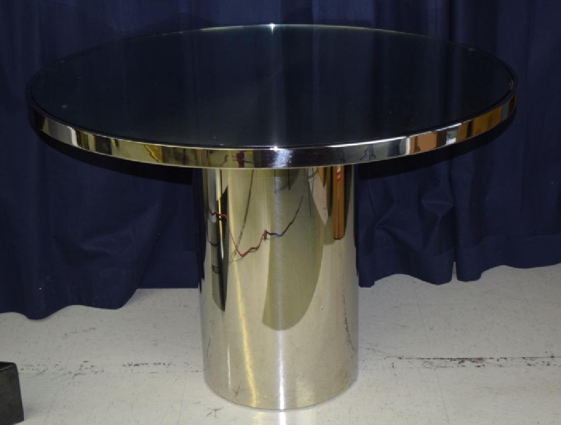 BRUETON Stainless Steel Speer Round Dining Table - 4