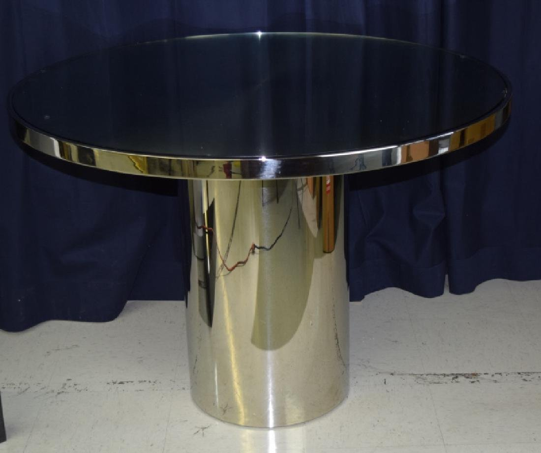 BRUETON Stainless Steel Speer Round Dining Table - 5