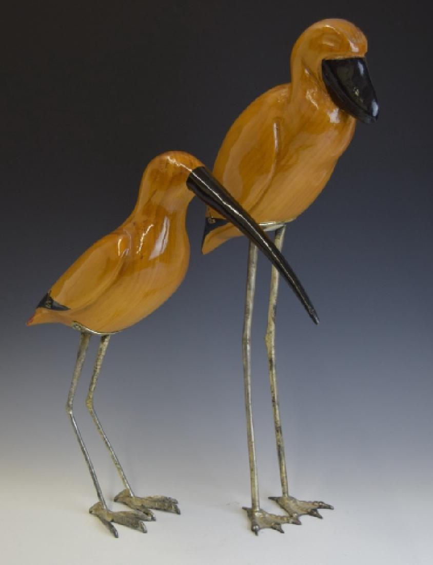 3 De Stijl Italian Carved Wood Bird Sculptures - 3