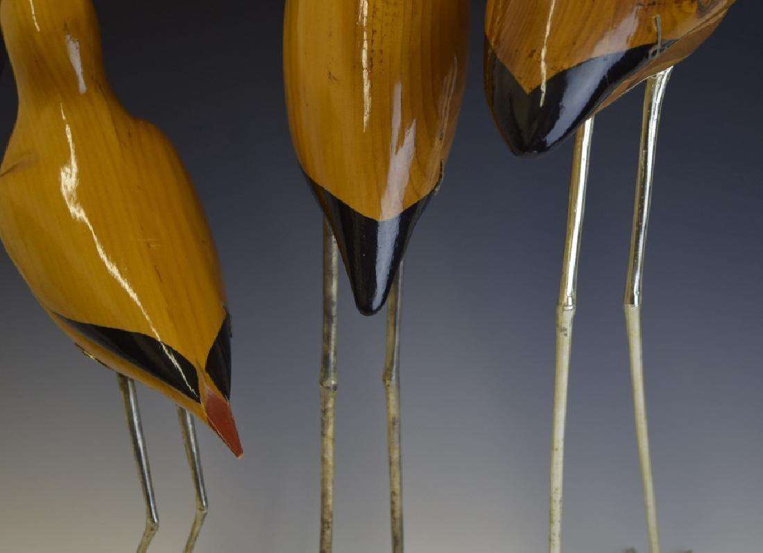 3 De Stijl Italian Carved Wood Bird Sculptures - 5