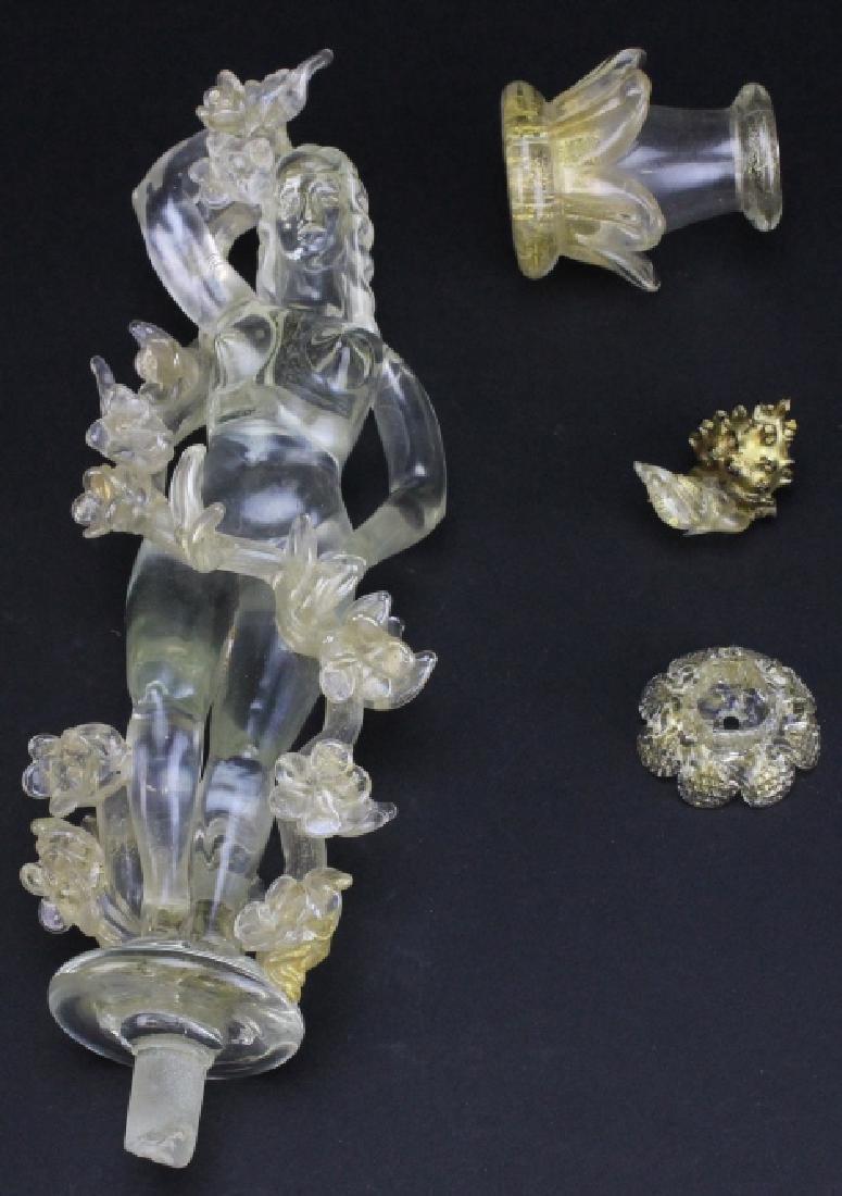 Seguso Murano Italian Art Glass Figural Fountain - 8
