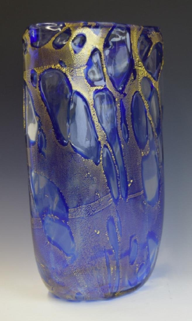 Mid Century Modern Art Glass Vase Signed Cummings - 2