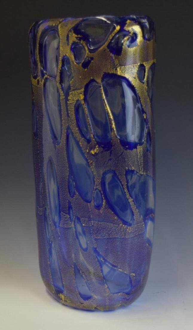 Mid Century Modern Art Glass Vase Signed Cummings - 3