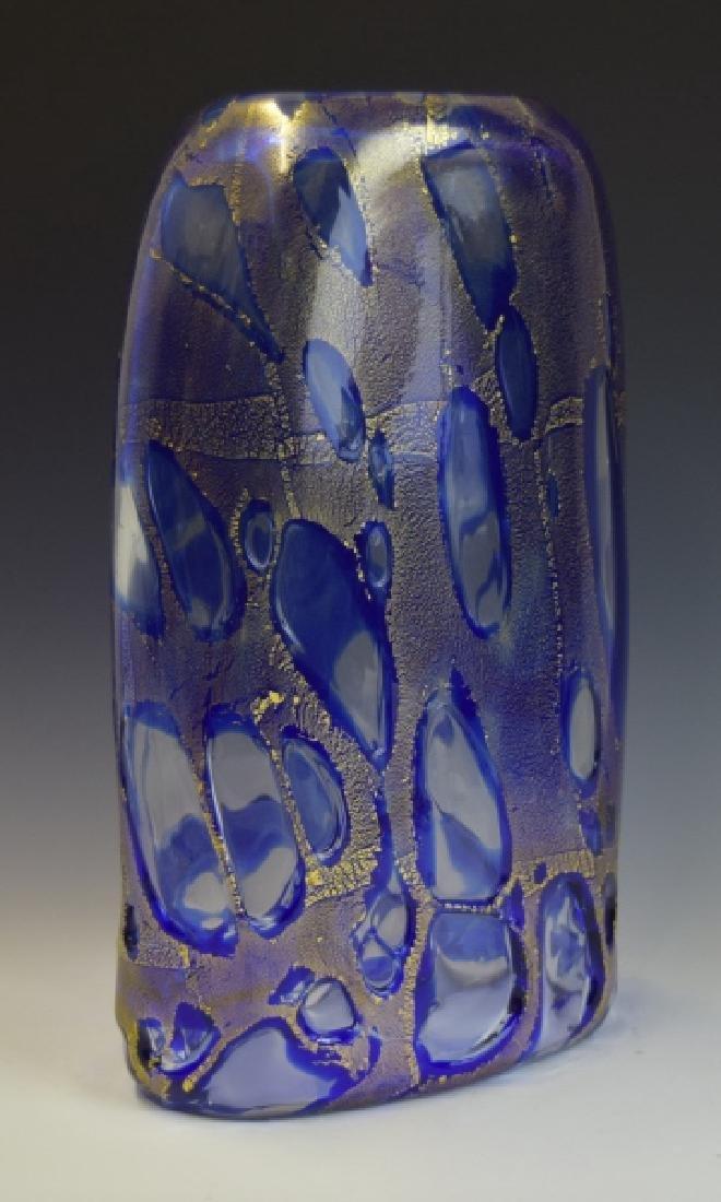 Mid Century Modern Art Glass Vase Signed Cummings - 7