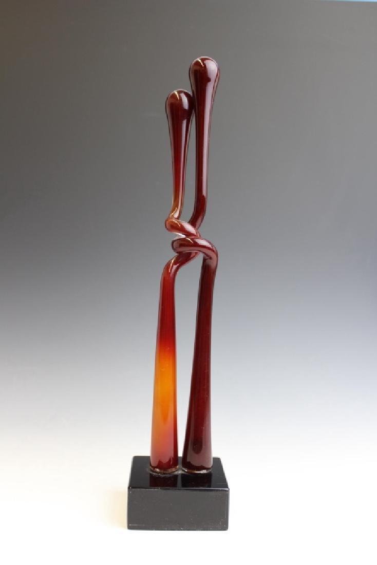 ALEX ARBELL Ein Hod Israel Art Glass Sculpture - 2