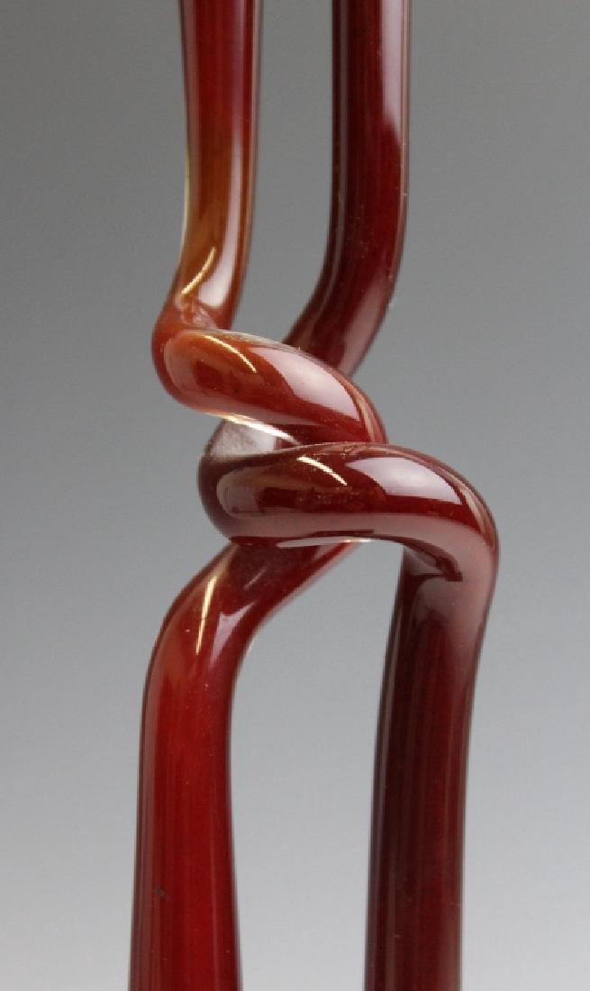 ALEX ARBELL Ein Hod Israel Art Glass Sculpture - 4