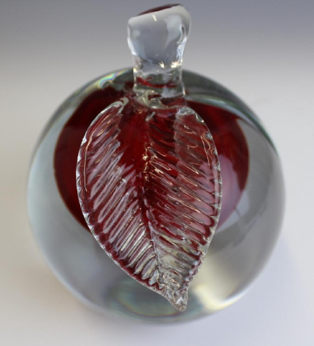 Barbini Murano Art Glass Apple Paper Weight - 5