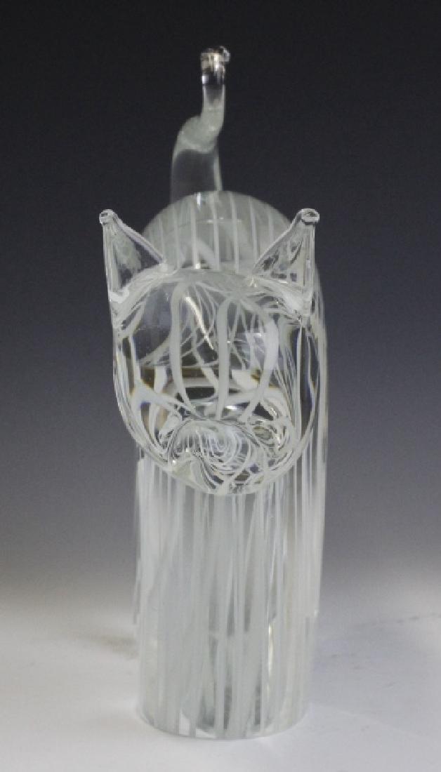 Zanetti Signed Murano Art Glass Cat Sculpture - 4