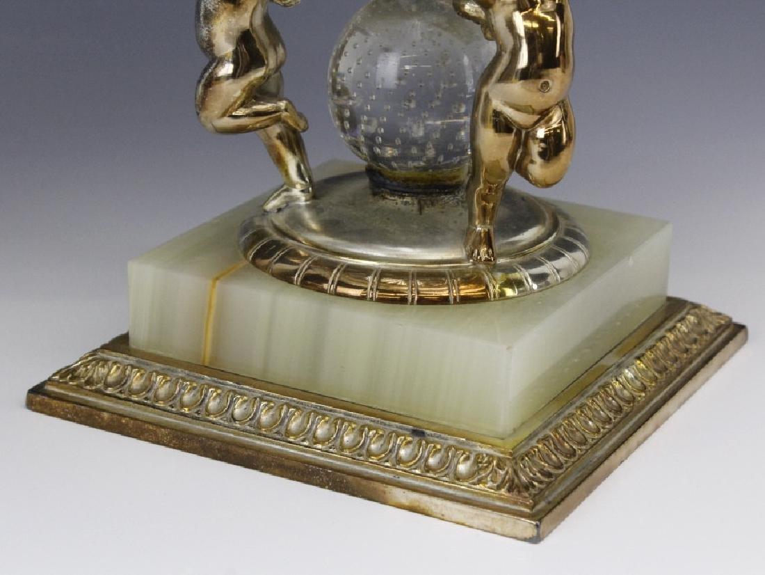 Pairpoint Figural Cherub Cut Glass Garniture Set - 4