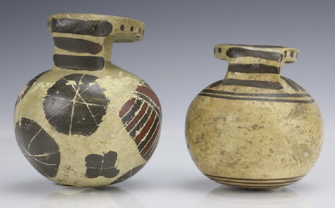 Two Ancient Corinthian Greek Aryballos w Figures - 3